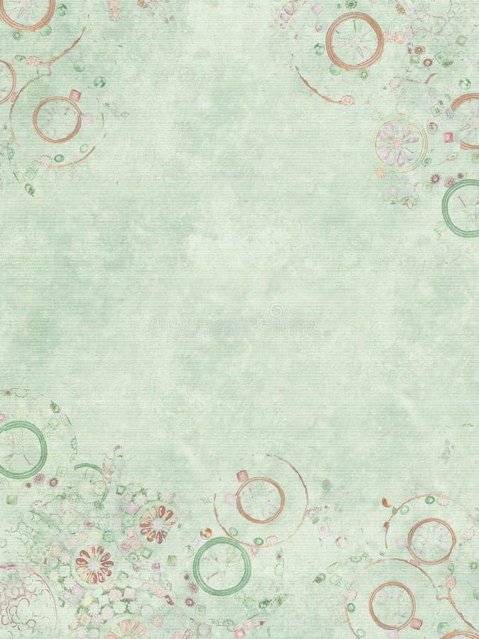 blått svagt ribbed juvelparchmenttryck vektor illustrationer