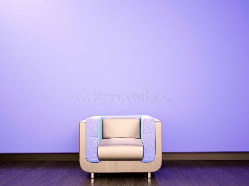 blått svalna soffan stock illustrationer