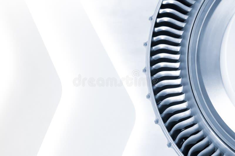 Blått tonad jetmotor royaltyfria foton