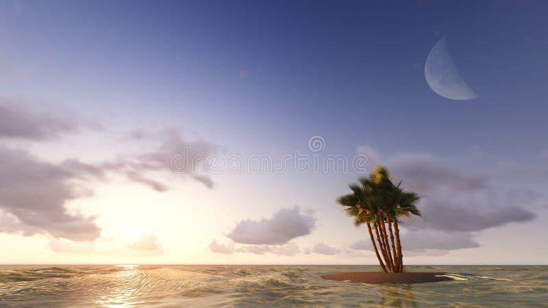 Blått tropiskt hav raster 5 royaltyfri foto