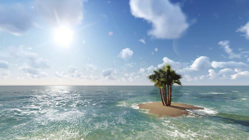 Blått tropiskt hav raster 6 arkivfoto