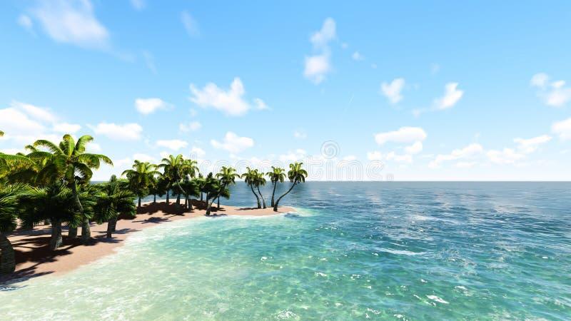 Blått tropiskt hav raster 1 arkivbild