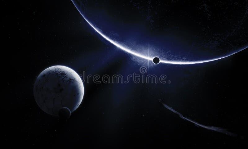 Blått universum royaltyfri illustrationer