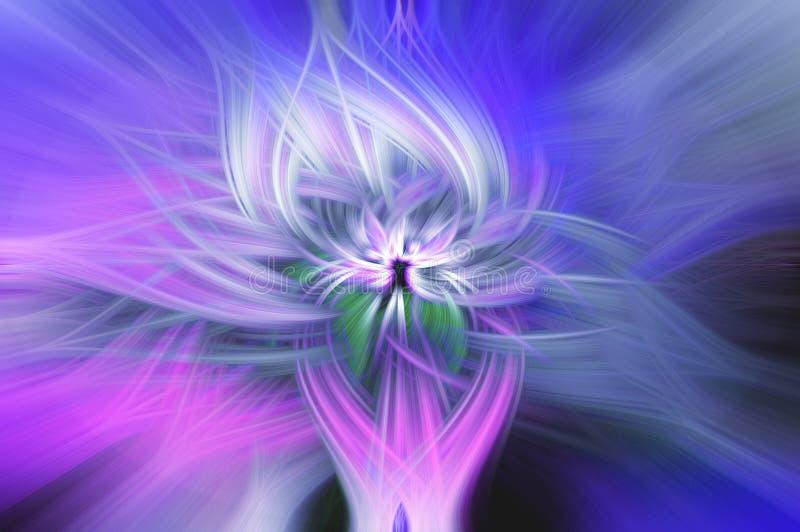 Blått vridna ljusa fibrer vektor illustrationer