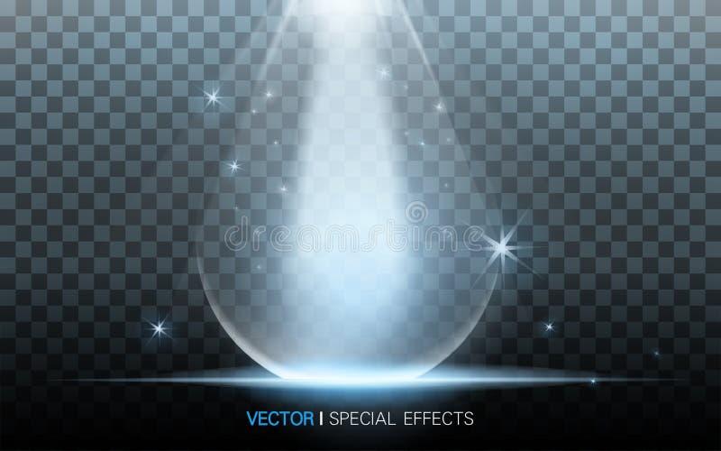 Blått waterdropmaterial vektor illustrationer