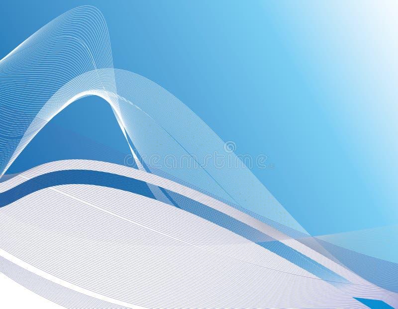 blått wavy för bakgrund royaltyfri illustrationer