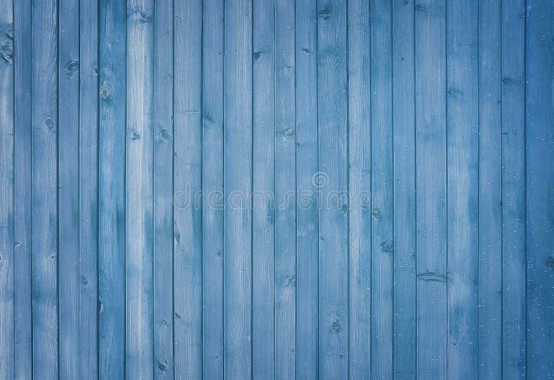 Blått wood målat bakgrundsbaner arkivbild
