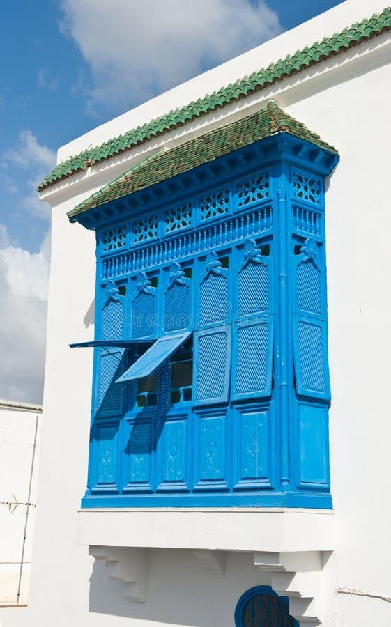 Blåttfönster arkivbild