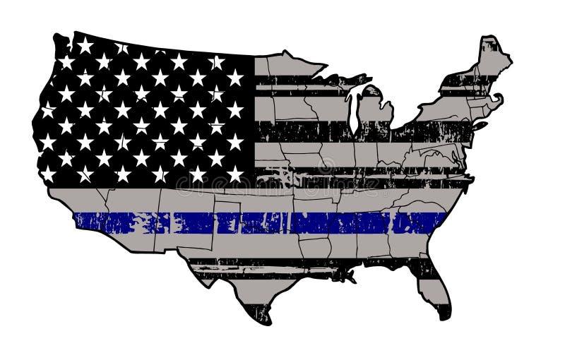 Blåttliv betyder - stå med den vår polisen arkivbild