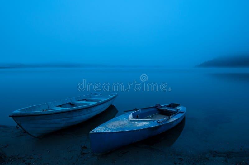 Blåttmorgon arkivfoton