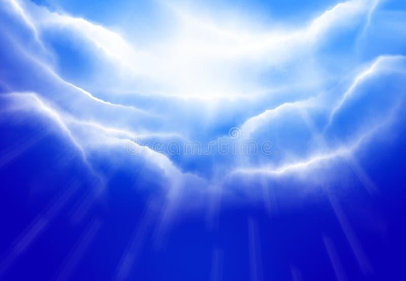 Skyblått royaltyfria foton