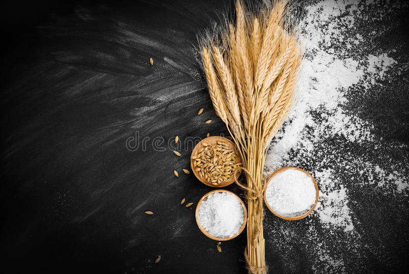 Blé et farine photo libre de droits
