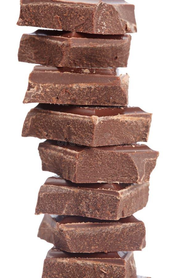 Blöcke der Schokolade stockfotografie