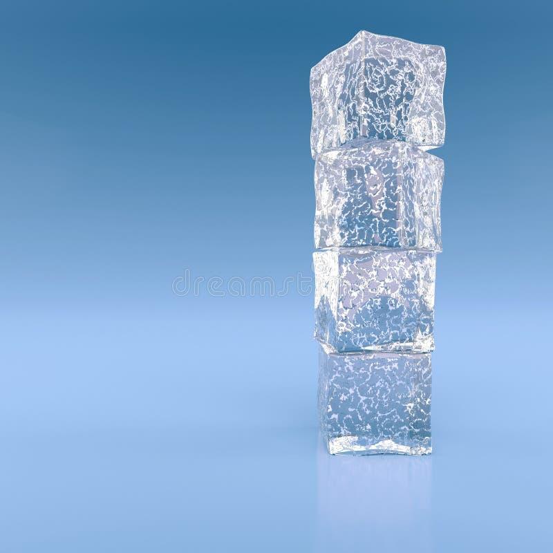 Blöcke des Eises stock abbildung
