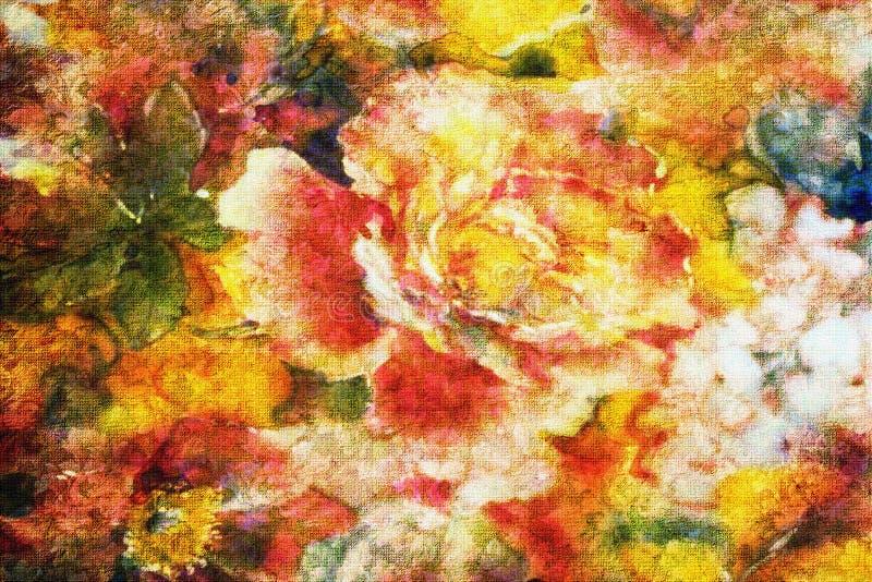 Blühen der Rosen vektor abbildung