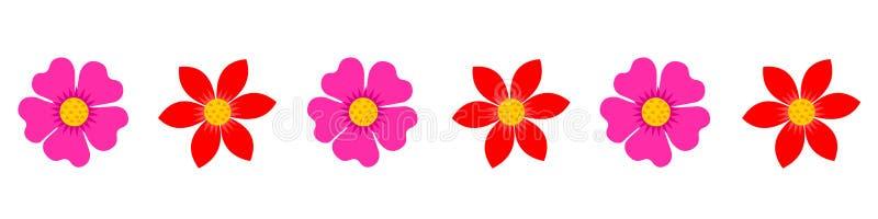 Blühen Sie Grenze, Titel, Seitenende, Hintergrund lizenzfreie abbildung