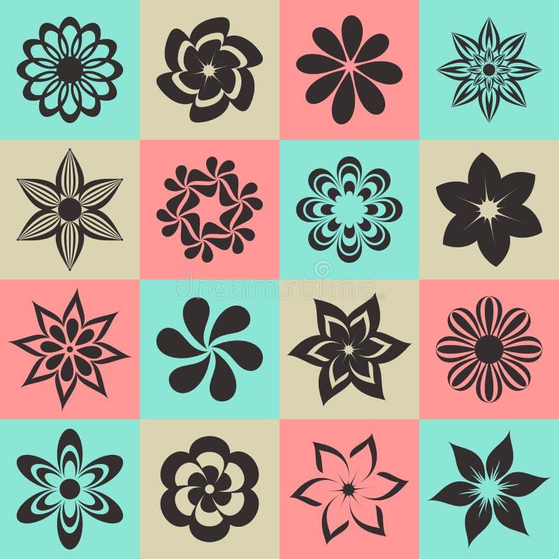 Blühen Sie Ikonen vektor abbildung
