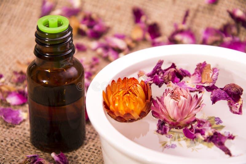 Blüht ätherisches Öl stockfoto