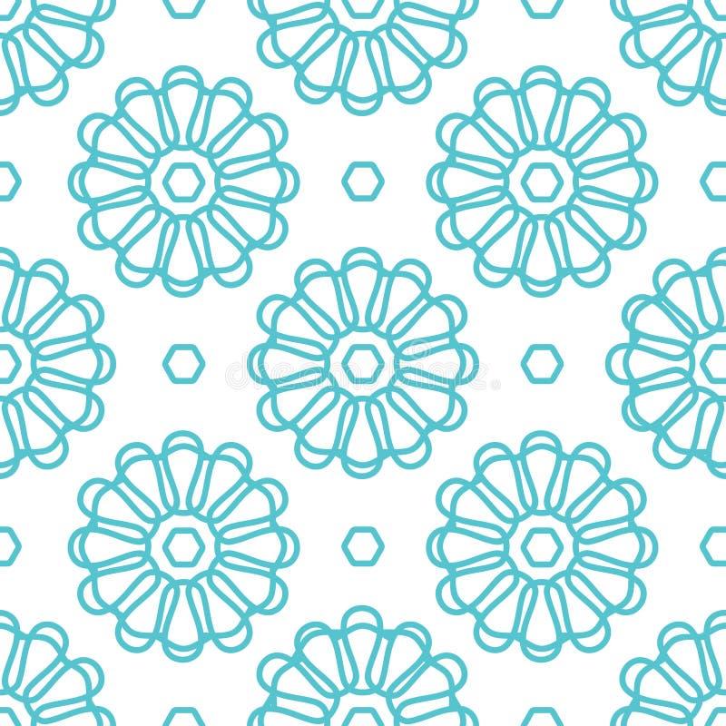 Blüht nahtloses Muster stock abbildung