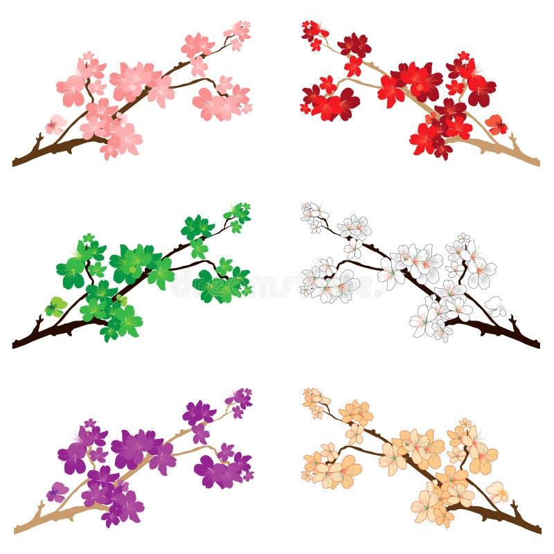 Blüten u. Blumen vektor abbildung