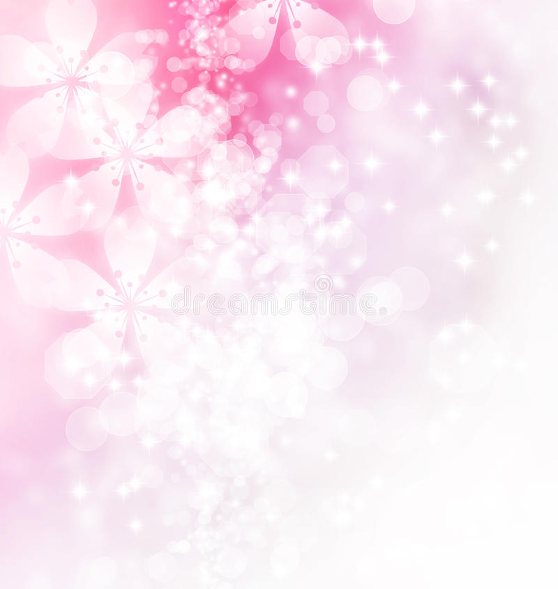 Blüten und Bokeh-Illustration vektor abbildung