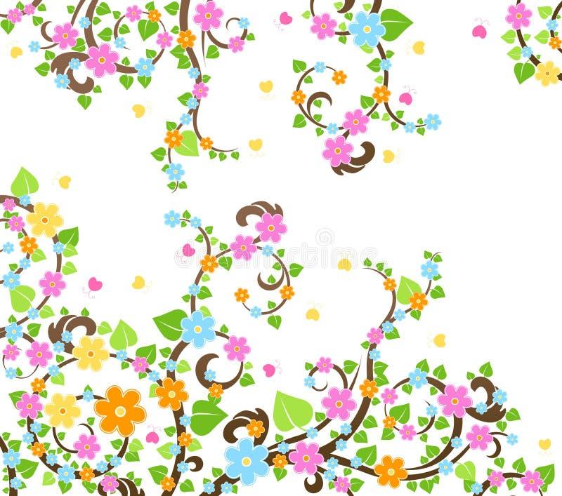 Blütenkirschbaum lizenzfreie abbildung
