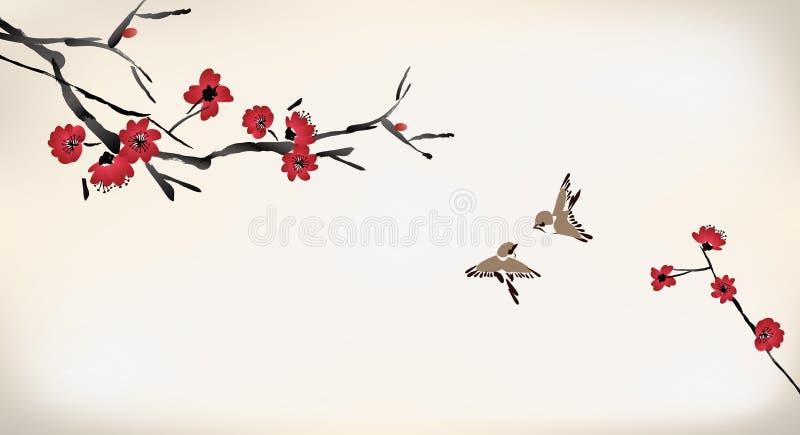 Blütenmalerei vektor abbildung
