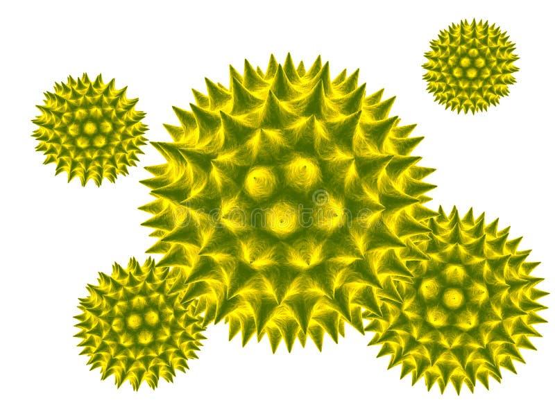 Blütenstaub 3d vektor abbildung