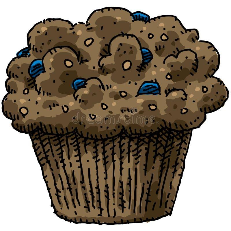 blåbärmuffin royaltyfri illustrationer