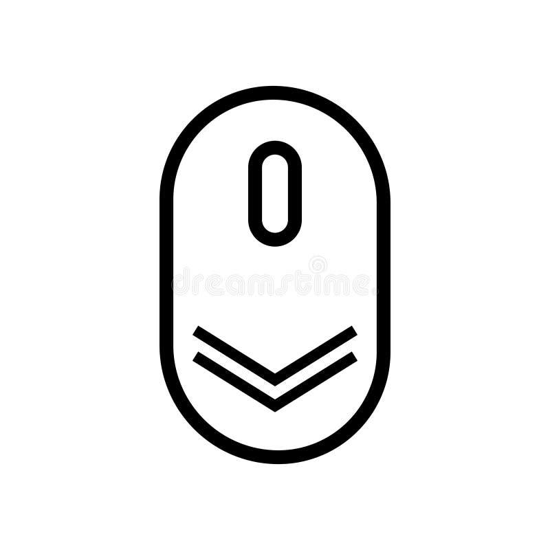Bl?ddra ner symbolen Vektor som bläddrar mussymbmolen för den isolerade rengöringsdukdesignen stock illustrationer