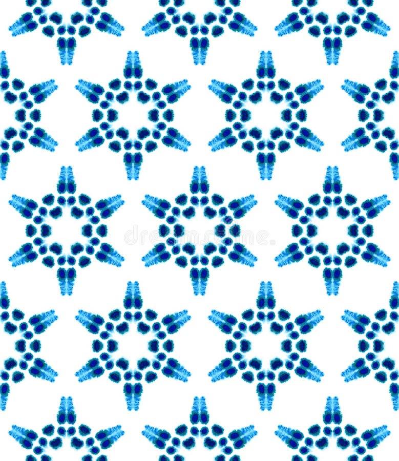 Bl? geometrisk vattenf?rg seamless modell Yttersidaprydnad vektor illustrationer