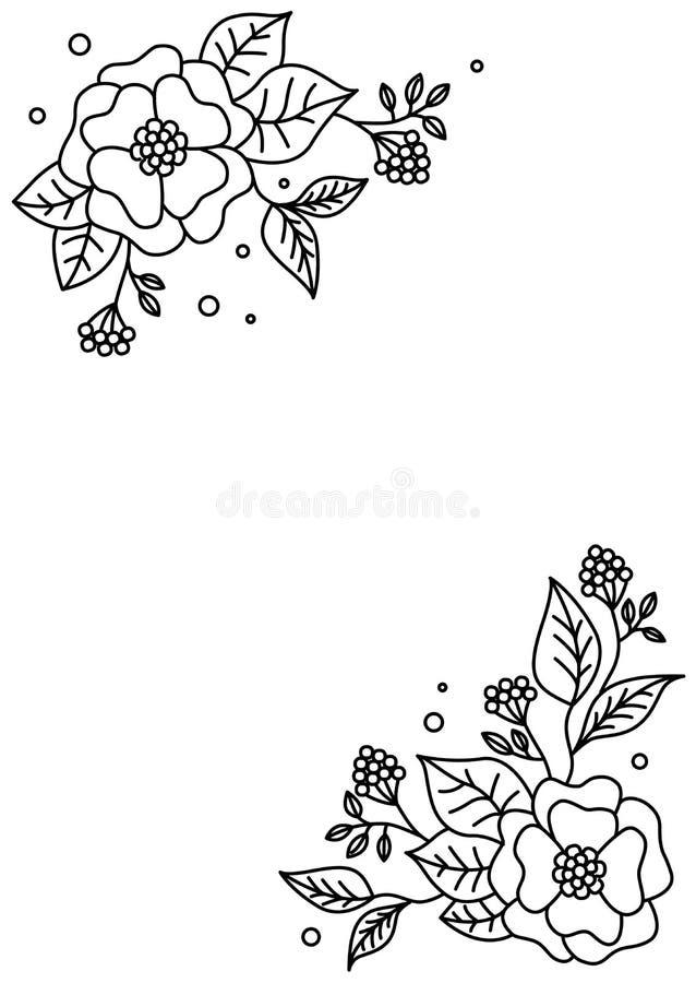 Bl?hende Japan-Kirschbaumnahaufnahme Vektorblumenmusterkarte Abstraktes Blumenmuster Moderne Art Dekoratives Blumen des Elements  stock abbildung
