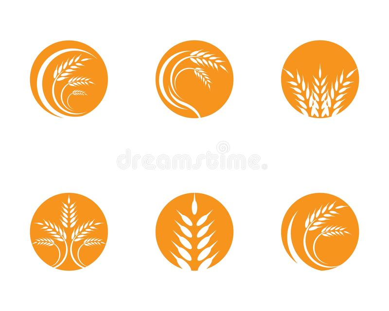 Bl? Logo Template d'agriculture illustration stock