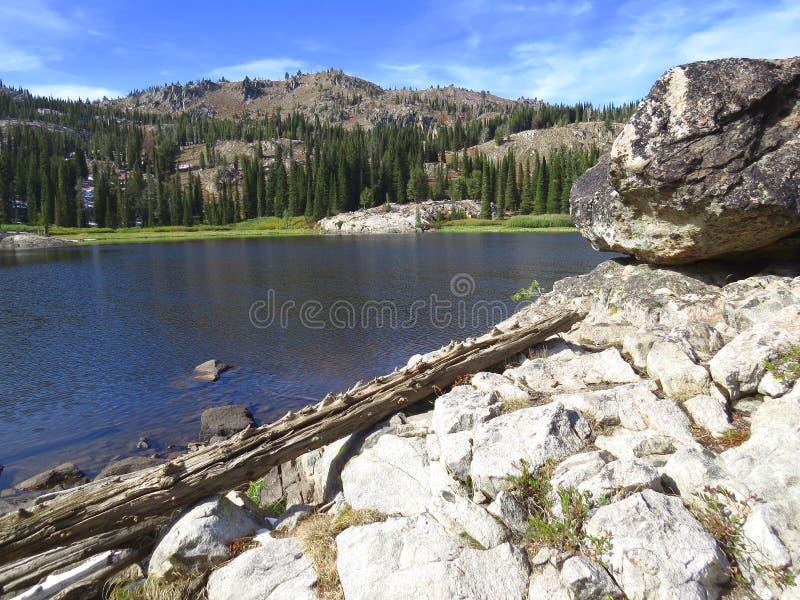 Bl? sj? i berg av Idaho royaltyfria bilder