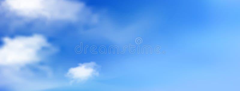 Bl? solig himmel med vita moln vektor illustrationer