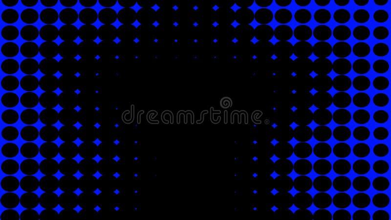 bl? textur Psykedelisk konst f?r hypnoshalvton Grafisk moderiktig syntwavebakgrund stock illustrationer