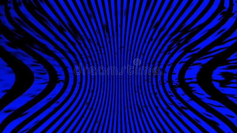 bl? textur Psykedelisk konst f?r hypnoshalvton Grafisk moderiktig syntwavebakgrund vektor illustrationer