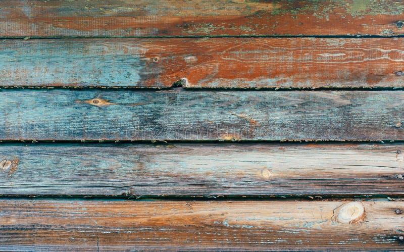 bl?tt tr? f?r bakgrund gammalt texturtr? Abstrakt träbakgrund för Grunge Blå orange naturlig trätextur arkivfoto