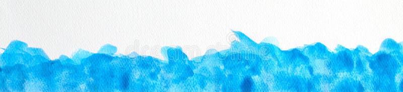 Bl? vattenf?rgbakgrund, f?r vattenf?rgborste f?r abstrakt hand utdragen illustration, grungestil att att planl?gga och dekorbakgr royaltyfri illustrationer