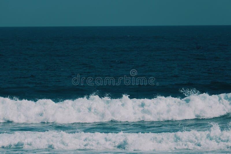 bl? wave arkivbilder