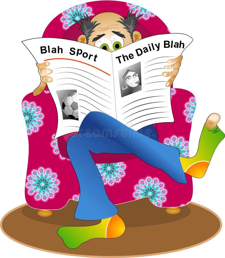 Download Bla ilustracji. Ilustracja złożonej z środki, gazety, mężczyzna - 44319