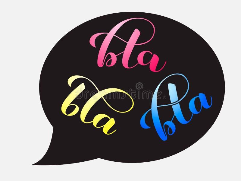 Bla-bla-bla bokstäver Vektorillustration för kläder stock illustrationer