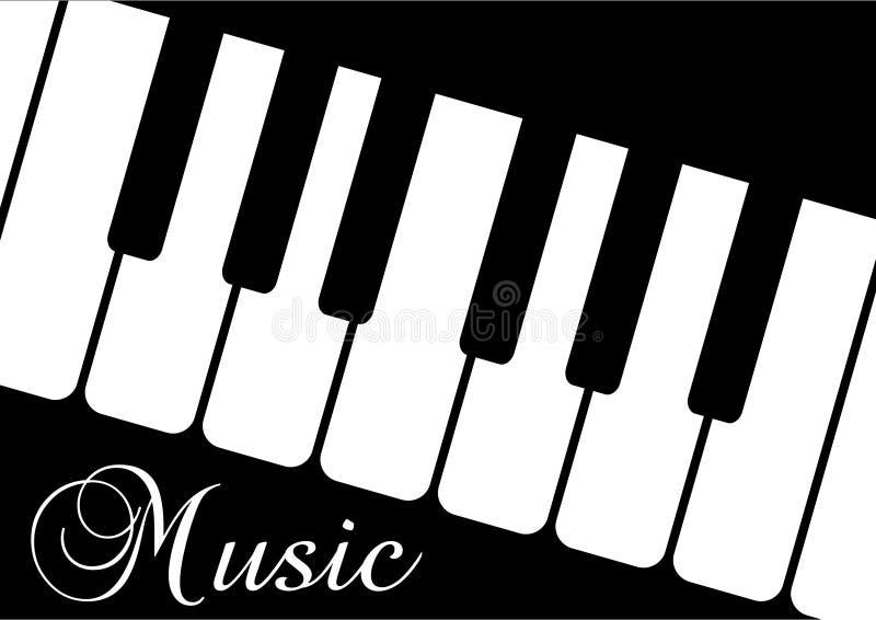 blac音乐钢琴字 向量例证