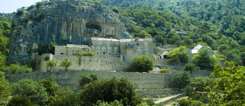 Blaca Hermitage. Middle age hermitage on the Brac Island,Croatia stock images