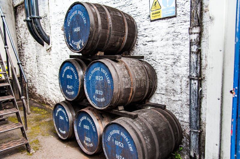 BLACFORD, PERTHSHIRE,苏格兰,英国, 2016 9月16日,桶  免版税库存图片