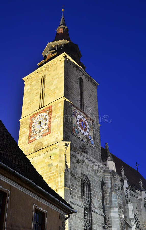 Blach Church nightview, Brasov, Romania