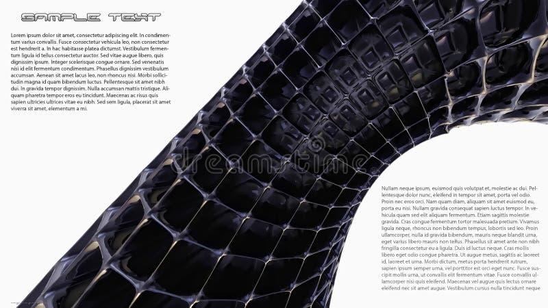 Black 3d abstraction background vector illustration