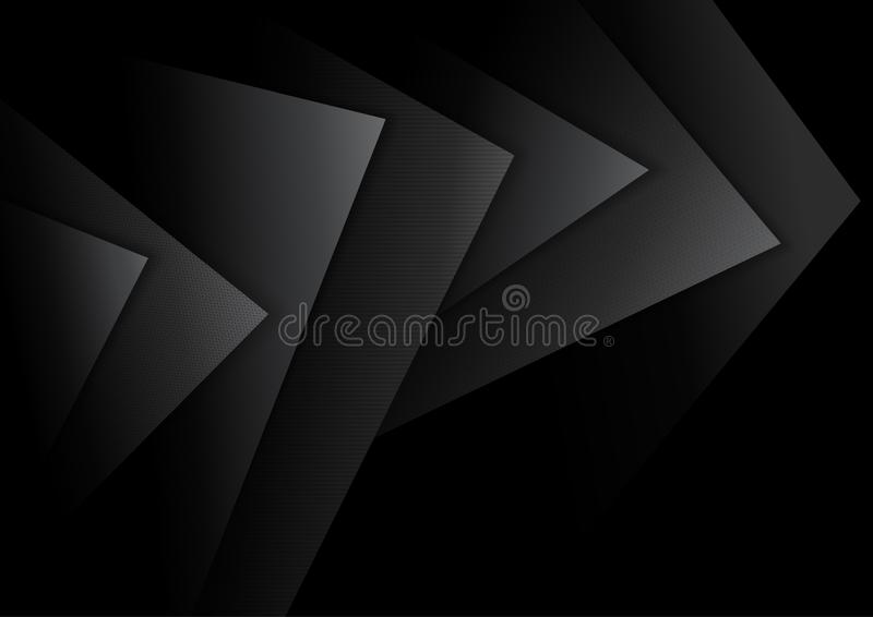 Black Abstract Background with Dark Layers royalty free illustration