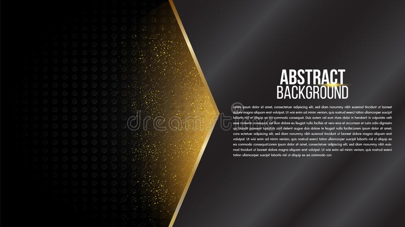 Black abstract background mat geometric elegant futuristic glossy light with grid line. Modern shape concept. stock image