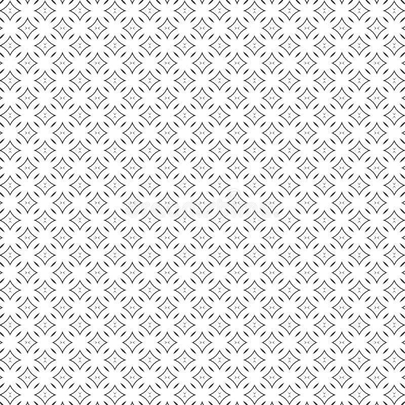 Black Abstract Draw Ornament Rhombus Seamless Pattern Background Vector Illustration stock illustration